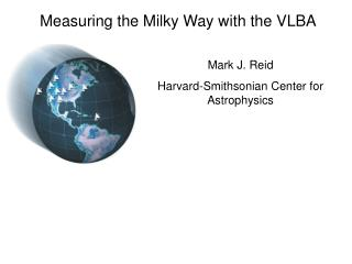 Measuring the Milky Way with the VLBA