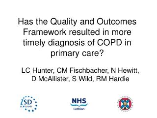 Has the Quality and Outcomes Framework resulted in more timely diagnosis of COPD in primary care?