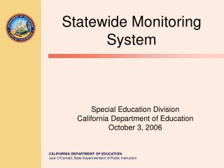 Special Education Division California Department of Education October 3, 2006