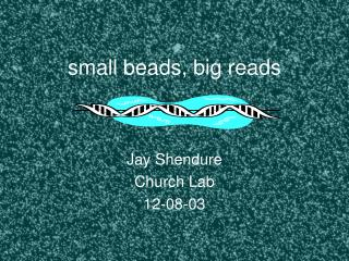 small beads, big reads