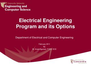Electrical Engineering Program and its Options