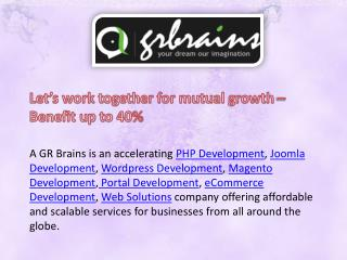 Why Outsource Your Project to GR Brains Technologies