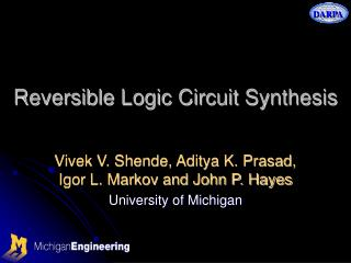 Reversible Logic Circuit Synthesis