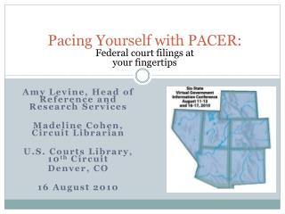 Pacing Yourself with PACER: Federal court filings at  your fingertips