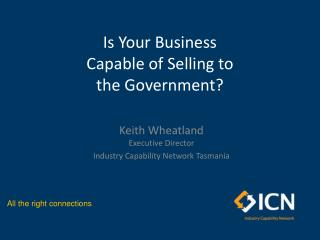 Is Your Business Capable of Selling to the Government?