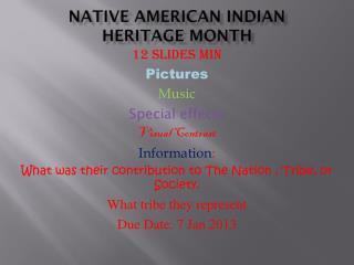 Native American Indian Heritage month