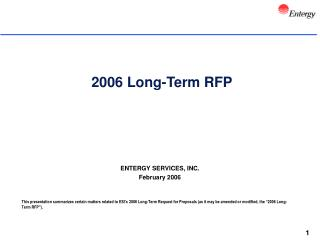 2006 Long-Term RFP