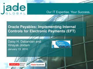 Oracle Payables: Implementing Internal Controls for Electronic Payments (EFT)