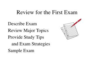 Review for the First Exam