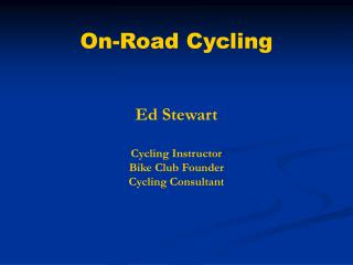 On-Road Cycling