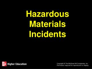 Hazardous Materials Incidents