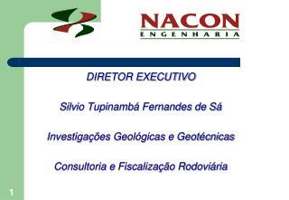 DIRETOR EXECUTIVO Silvio Tupinambá Fernandes de Sá Investigações Geológicas e Geotécnicas