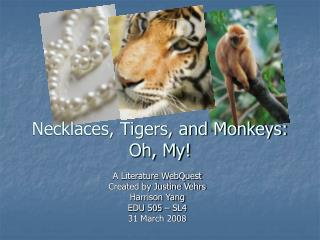 Necklaces, Tigers, and Monkeys: Oh, My!