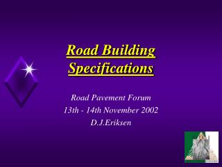 Road Building Specifications