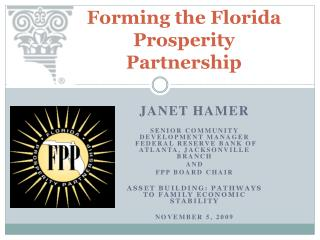 Forming the Florida Prosperity Partnership