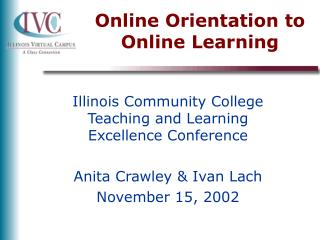 Online Orientation to Online Learning