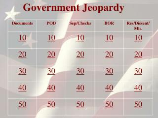 Government Jeopardy