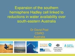 Dr David Post CSIRO Australia