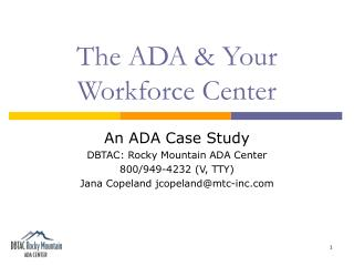 The ADA & Your Workforce Center