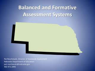 Balanced and Formative Assessment Systems