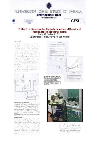 Sniffer-1: a biosensor for the early detection of the oil and fuel leakage in industrial plants
