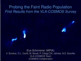 Probing the Faint Radio Population  First Results from the VLA-COSMOS Survey