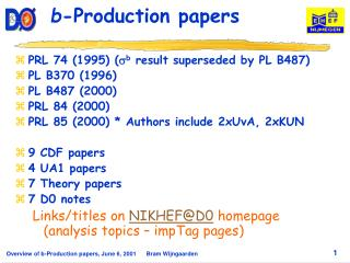 b -Production papers
