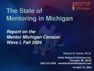 The State of  Mentoring in Michigan