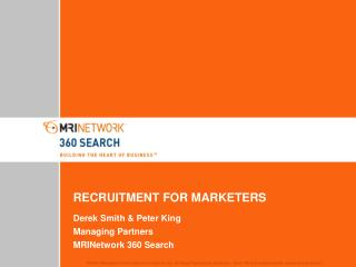 RECRUITMENT FOR MARKETERS
