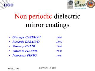 Non periodic dielectric mirror coatings