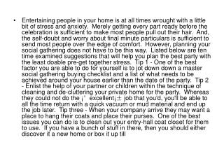 Entertaining people in your home