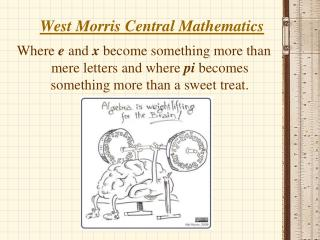 West Morris Central Mathematics