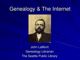 Genealogy & The Internet