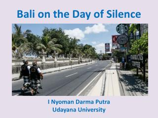Bali on the Day of Silence