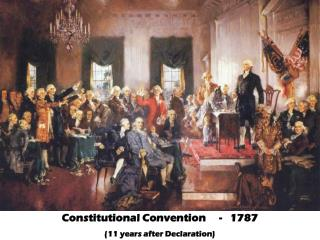 Constitutional Convention     -   1787  (11 years after Declaration)