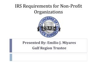 IRS Requirements for Non-Profit Organizations