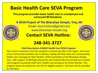 Basic Health Care SEVA Program