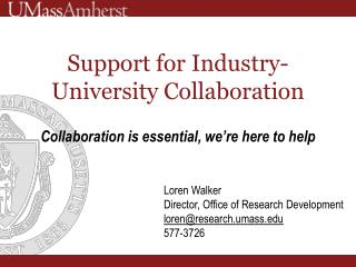 Support for Industry-University Collaboration