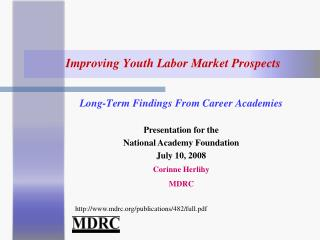 Improving Youth Labor Market Prospects