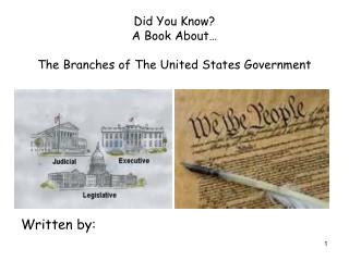 Did You Know? A Book About… The Branches of The United States Government