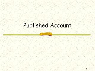 Published Account