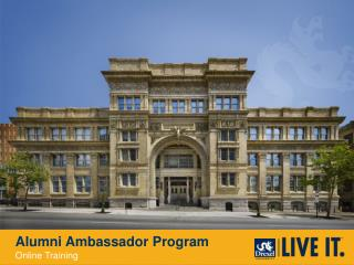 Alumni Ambassador Program Online Training