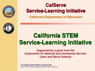 CalServe  Service-Learning Initiative California Department of Education