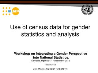 Use of census data for gender statistics and analysis