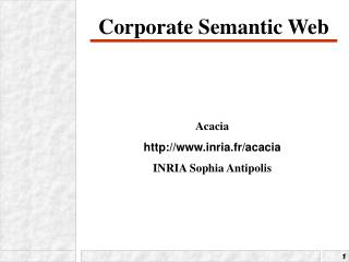 Corporate Semantic Web