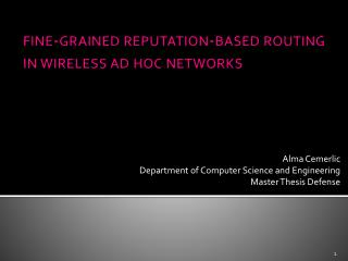 fine-grained reputation-based routing in wireless ad hoc networks