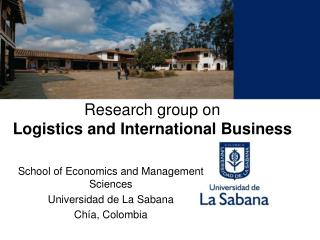 Research group on Logistics and International Business
