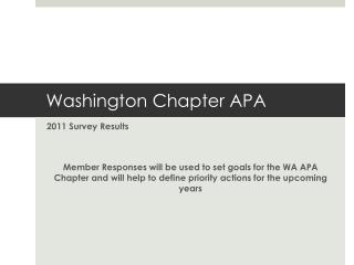 Washington Chapter APA