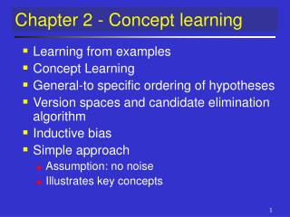 Chapter 2 - Concept learning