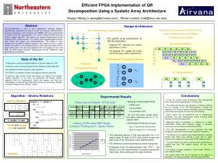 Efficient FPGA Implementation of QR  Decomposition Using a Systolic Array Architecture